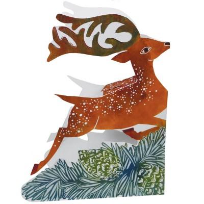 Judy Lumley 3D Leaping Deer Card