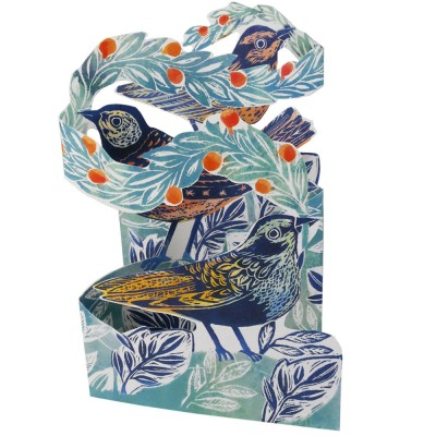 Judy Lumley 3D Berry Bird Card