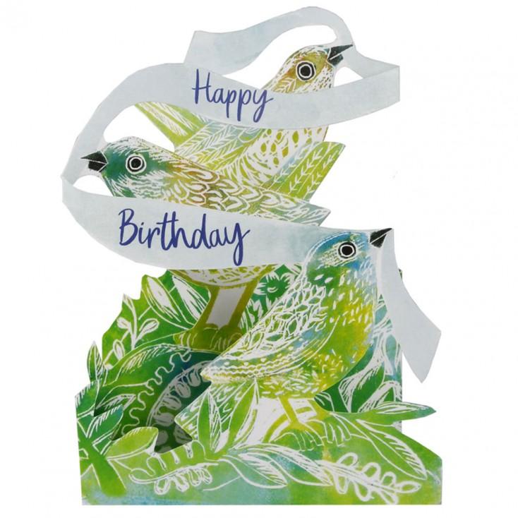 Judy Lumley 3D Birthday Bird Card