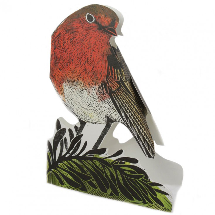 Judy Lumley 3D Garden Robin Card