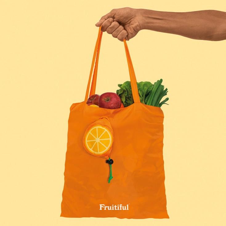 Fruitiful Orange Shopping Bag