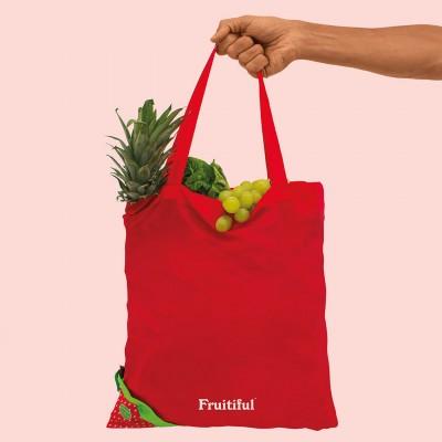 Fruitiful Strawberry Shopping Bag