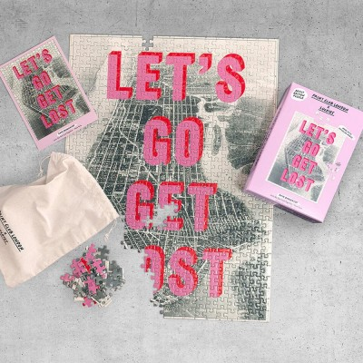 Let's Go Get Lost Artist Edition 500 Piece Puzzle - Print Club London x Luckies