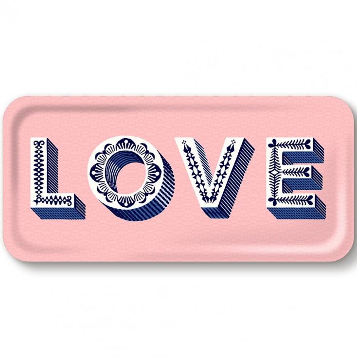 Asta Barrington Pink Love Slim Tray By Jamida