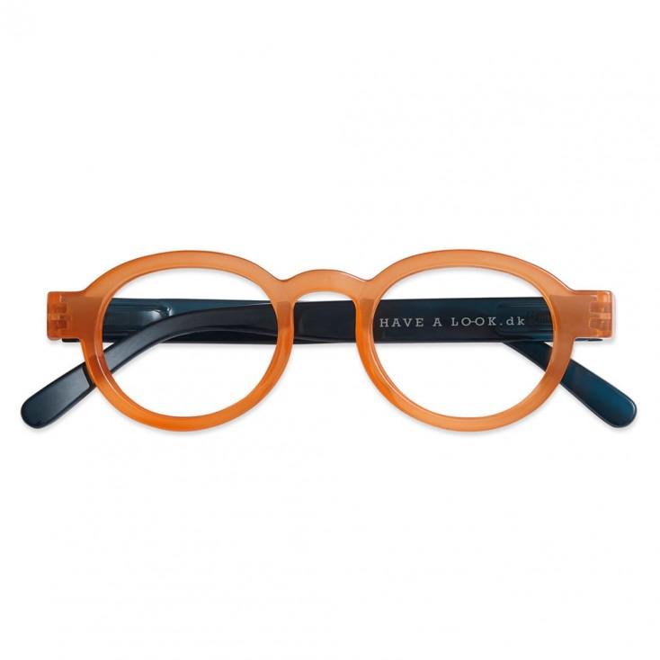 Have A Look Reading Glasses - Circle Twist - Orange & Navy