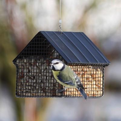 Wildlife Garden Cottage Peanut Feeder - Black