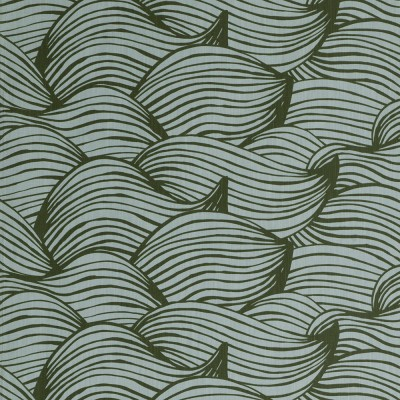 Scandinavian Fabric - Spira Wave Green Fabric