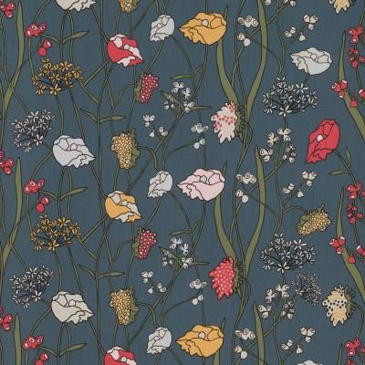 Scandinavian Fabric - Spira of Sweden Äng Fabric Blue