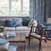 Spira of Sweden Pleat Cushion Cover - Dusty Blue
