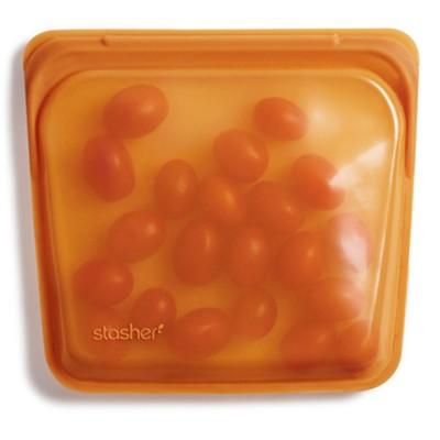 Stasher Reusable Silicone Bag - Sandwich Honey