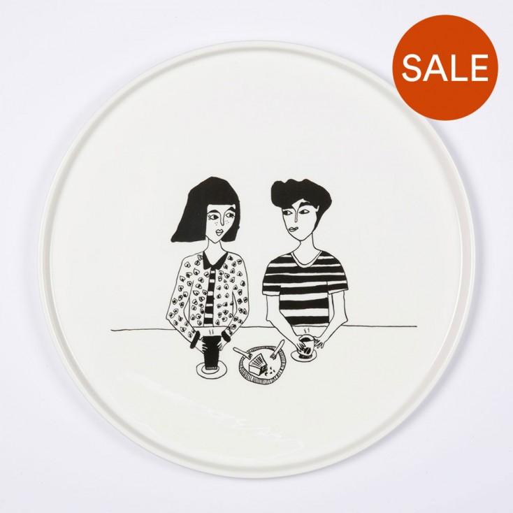 Helen B Porcelain Plate - Naked Couple