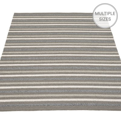 Pappelina Grace Large Rug - Charcoal - 180 x 260 cm