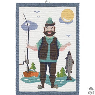 Ekelund Fishing Man Kitchen Towel