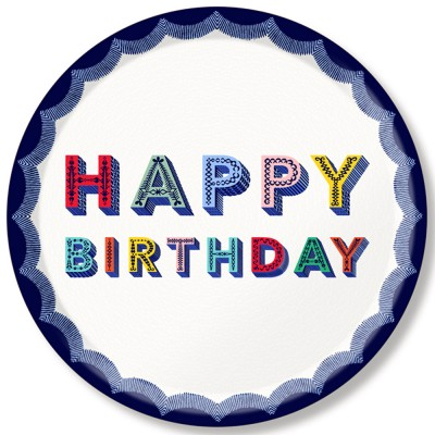 Asta Barrington Happy Birthday Round Tray By Jamida