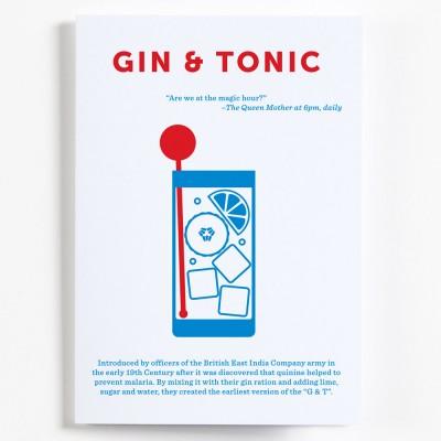 Crispin Finn Cocktail Greeting Card - Gin & Tonic