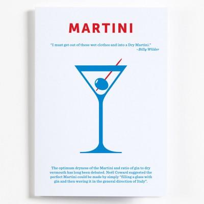 Crispin Finn Cocktail Greeting Card - Martini