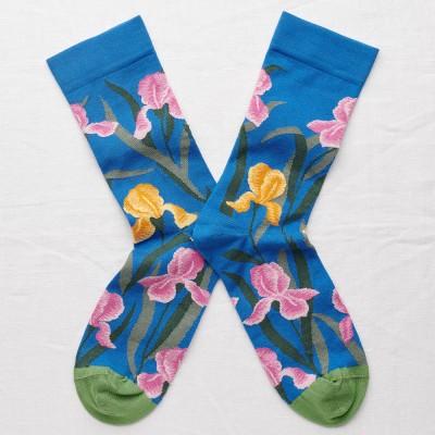 Bonne Maison Socks - Cobalt Iris