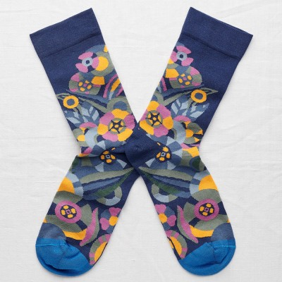 Bonne Maison Socks - Blue Flower