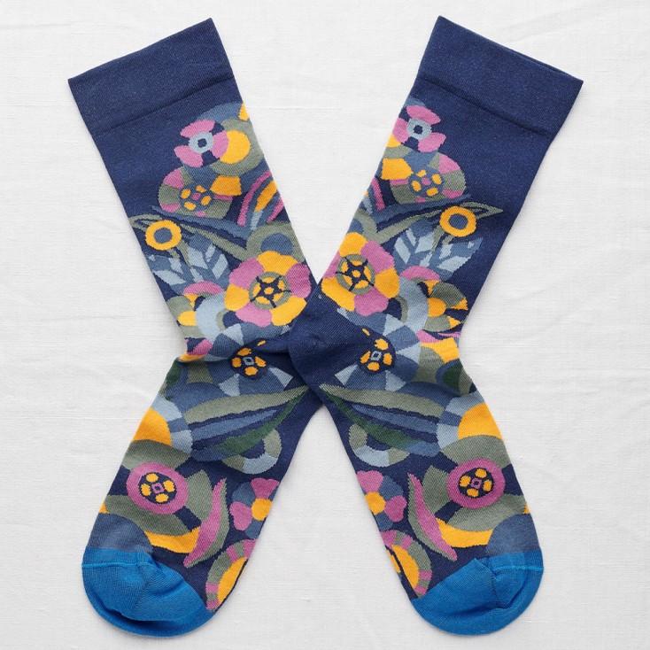 Bonne Maison Socks - Blue Flower
