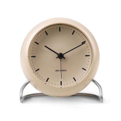 Rosendahl Arne Jacobsen City Hall Table Clock - Sandy Beige