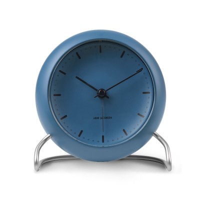 Rosendahl Arne Jacobsen City Hall Table Clock - Storm Blue