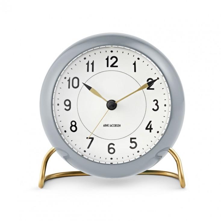 Rosendahl Arne Jacobsen Station Table Clock - Grey