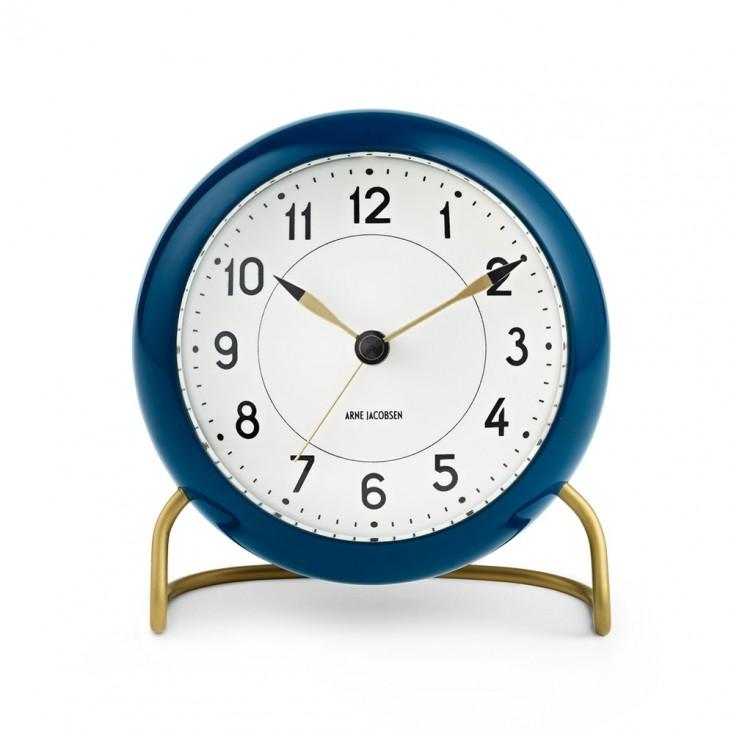 Rosendahl Arne Jacobsen Station Table Clock - Petrol Blue