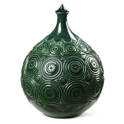 Bjørn Wiinblad Symphony Magic Bonbonniere Ø 21.5 cm - Dark Green