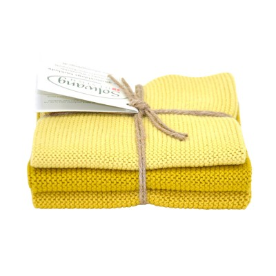 Danish Cotton Dishcloth Trio - Saffron