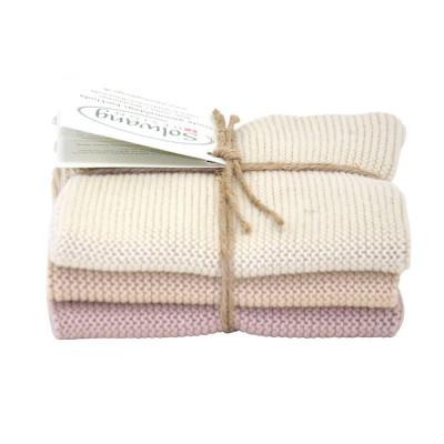 Danish Cotton Dishcloth Trio - Sand