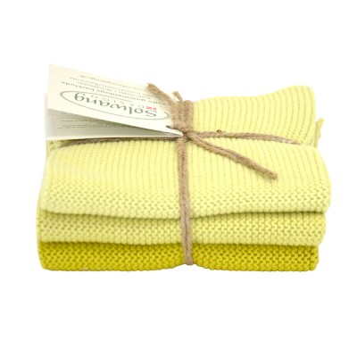 Danish Cotton Dishcloth Trio - Spring Green