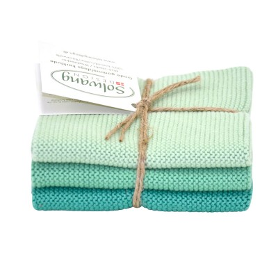 Danish Cotton Dishcloth Trio - Summer Green