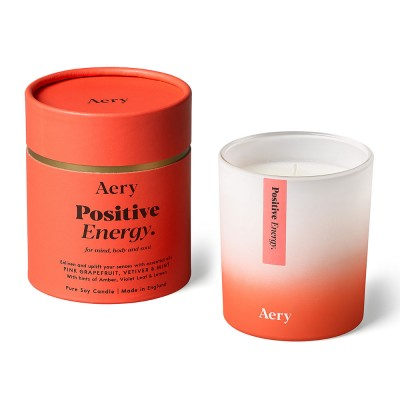 Aery Positive Energy Soy Wax Candle - Pink Grapefruit Vetiver Mint