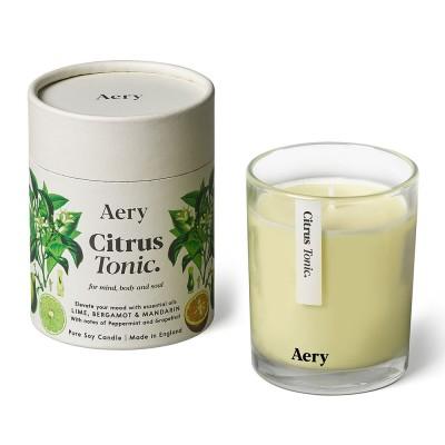 Aery Citrus Tonic Soy Wax Candle - Lime Bergamot Mandarin
