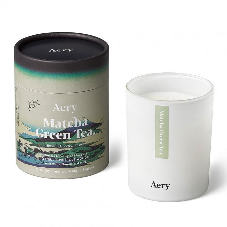 Aery Matcha Green Tea Soy Wax Candle - Citrus & Precious Woods