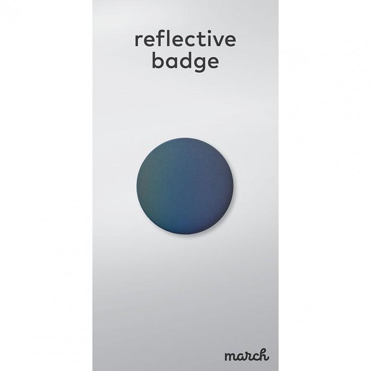 March Reflective Badge - Black Rainbow