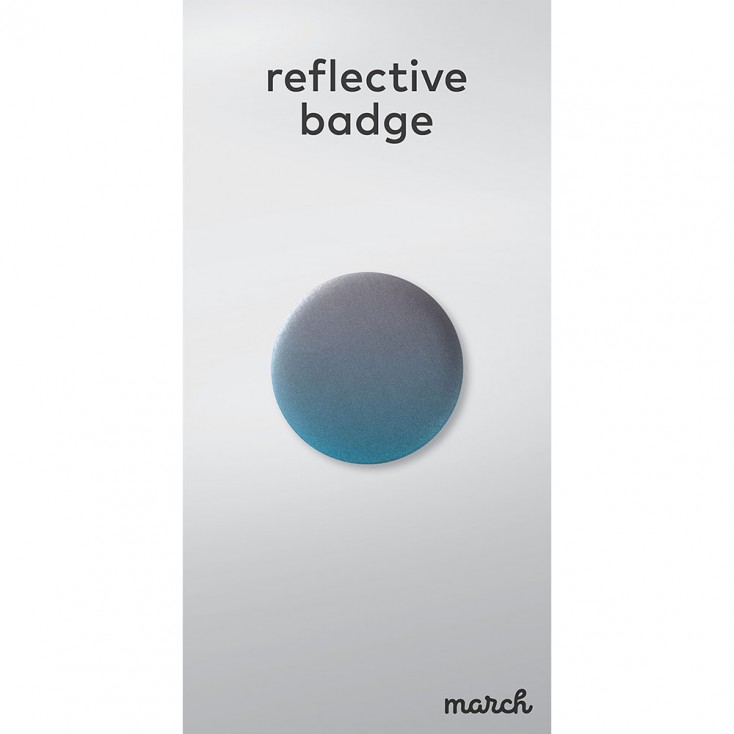 March Reflective Badge - Fade Blue