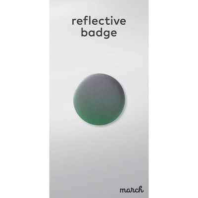 March Reflective Badge - Fade Green