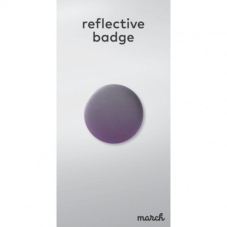 March Reflective Badge - Fade Purple