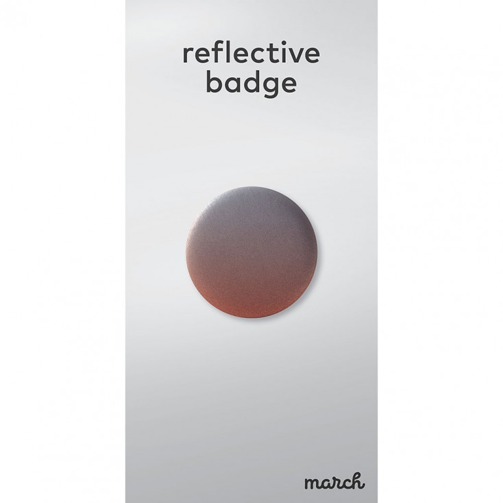 March Reflective Badge - Fade Red