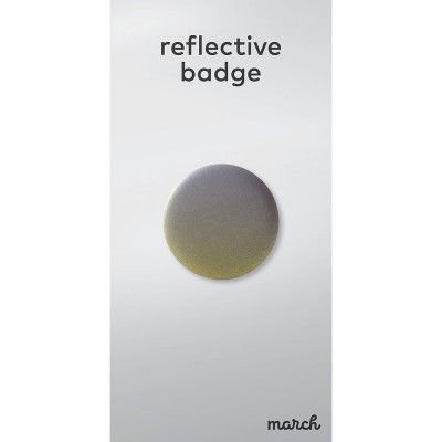 March Reflective Badge - Fade Yellow