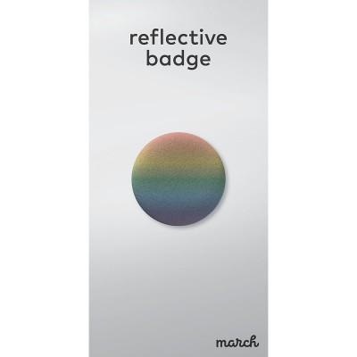 March Reflective Badge - Rainbow
