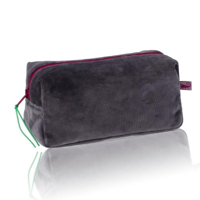 Farbenfreunde Anthracite Velvet Cosmetic Bag