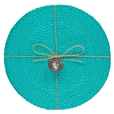Jute Placemats Set Of Four - Medici Blue