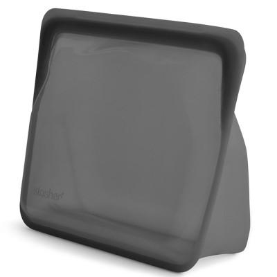 Stasher Reusable Silicone Bag - Stand-Up Ash