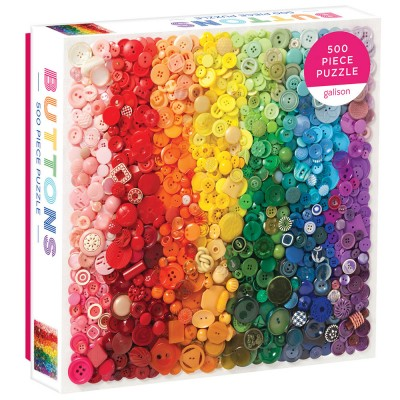 Rainbow Buttons 500 Piece Puzzle