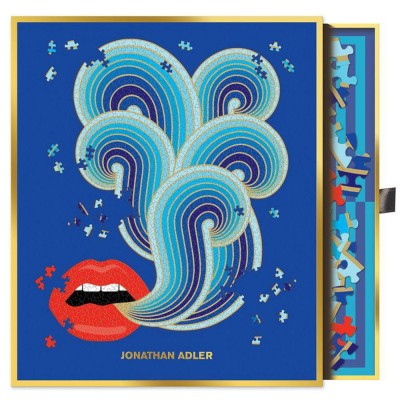 Jonathan Adler Lips 750 Piece Shaped Puzzle