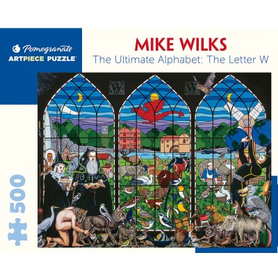 Pomegranate Mike Wilks The Ultimate Alphabet : The Letter W 500 Piece Jigsaw Puzzle