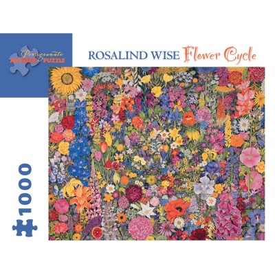 Pomegranate Rosalind Wise Flower Cycle 1000 Piece Jigsaw Puzzle