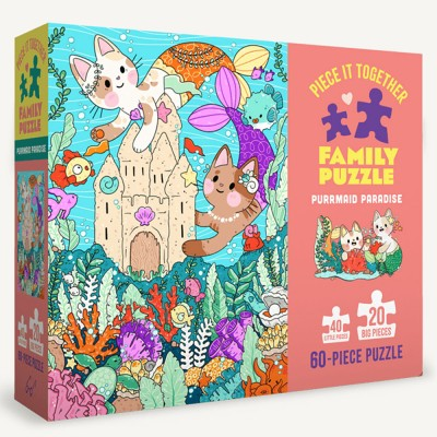 Piece It Together Family Puzzle - Purrmaid Paradise